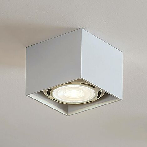 Angular LED ceiling spotlight Mabel, white