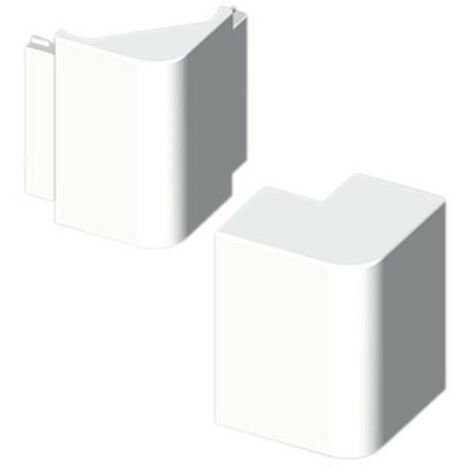 Ángulo exterior 40x60mm PVC blanco Unex 73321-2