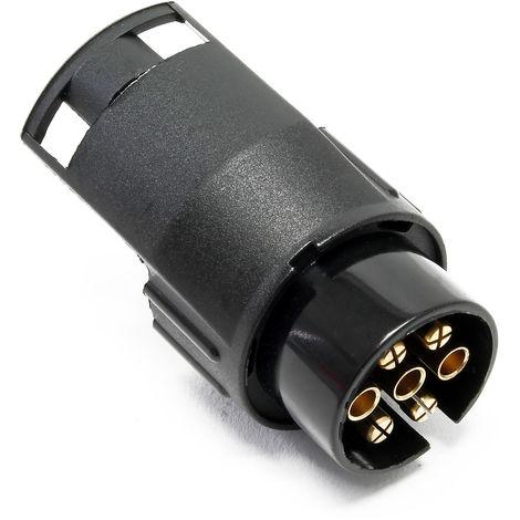 Anhänger Adapterstecker 7-polig/13-polig für 12V Bremsleuchten, Blinklicht u. Kennzeichenleuchte
