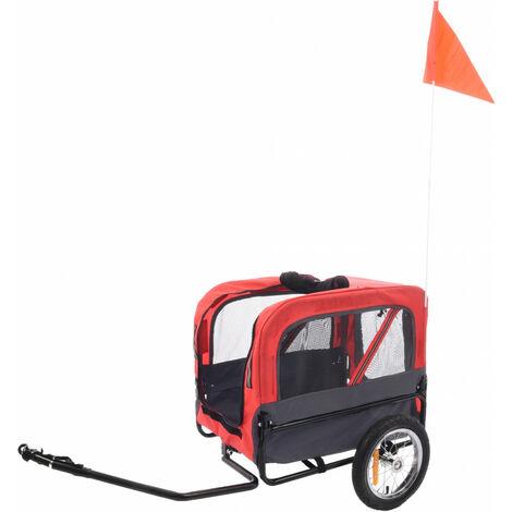 Anhänger DOGGY LINER ROMERO rot und schwarz. 60 x 43 x 51 cm. für Hund