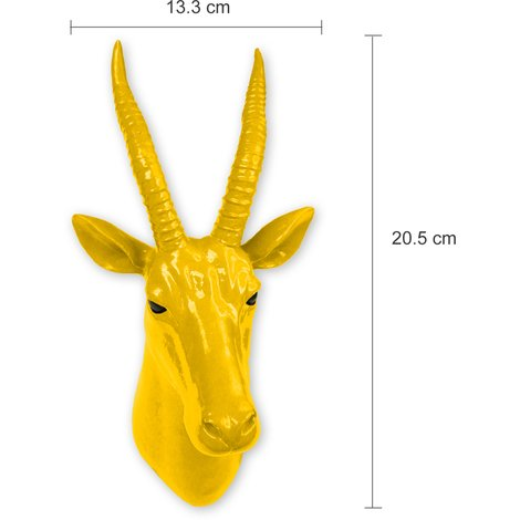 Animal Coat Hook - Antelope - Yellow