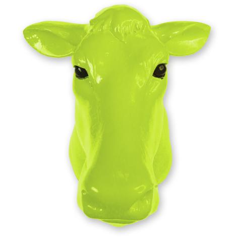 Animal Coat Hook - Cow - Green