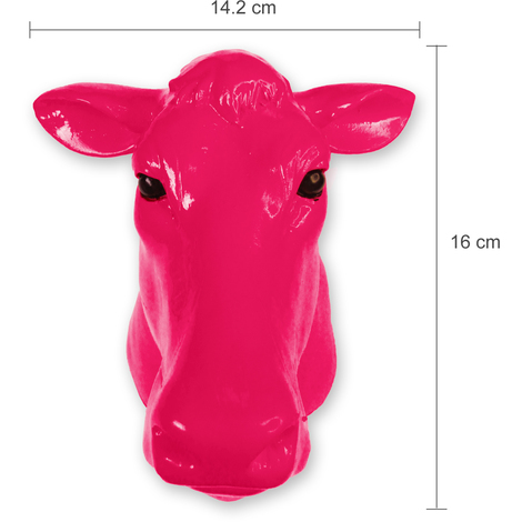 Animal Coat Hook - Cow - Pink