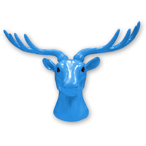 Animal Coat Hook - Deer - Blue