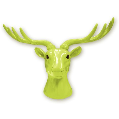 Animal Coat Hook - Deer - Green