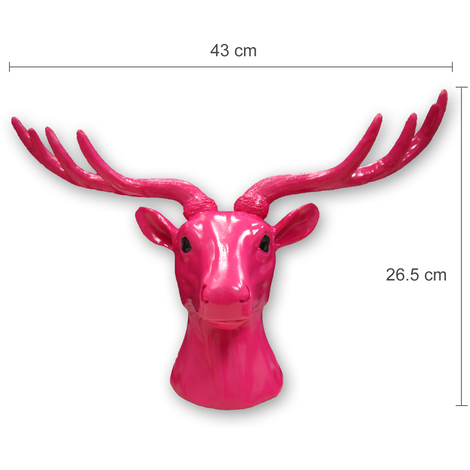 Animal Coat Hook - Deer - Pink