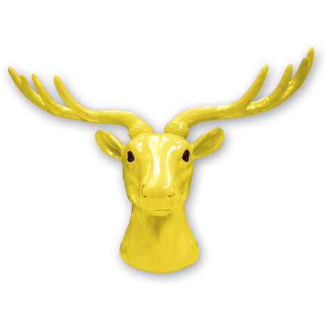 Animal Coat Hook - Deer - Yellow