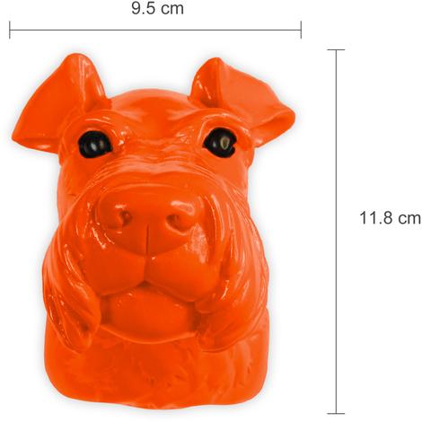 Animal Coat Hook - Miniature Schnauzer Dog - Amber