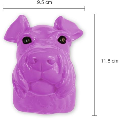 Animal Coat Hook - Miniature Schnauzer Dog - Purple