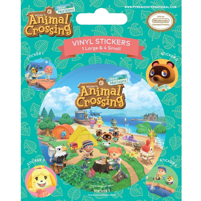 Image of Island Antics Vinyl Stickers (Pack of 5) (One Size) (Multicoloured) - Animal Crossing