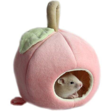 Animal de compagnie Maison Lit, Petit Animal domestique Hamster à suspendre Lit Maison Hamac Lit en polaire chaud mignon du cochon d'Inde Hérisson chinchilla Lit Maison Nid Cage Hamster Petits Animaux Maison