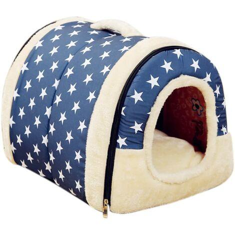 Animal Maison Pet Sac de Couchage Cuddle Pochette Lit Animal de Lavable Tapis de Maison pour Burrower Chatons Chats Chiens Chiots Lapin (S,Couleur 5)