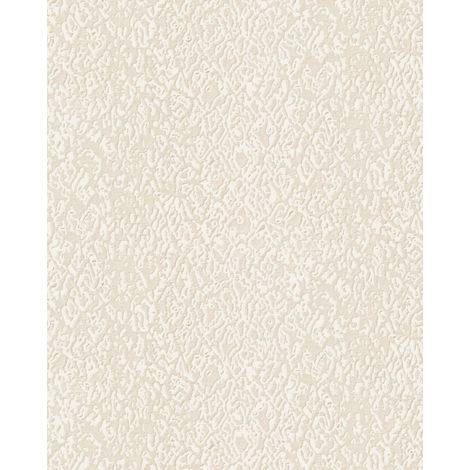 Animal pattern wallpaper wall Profhome DE120121-DI hot embossed non-woven wallpaper embossed with exotic design shiny cream 5.33 m2 (57 ft2)
