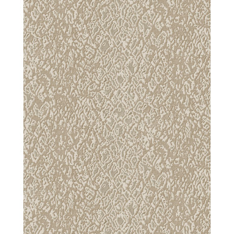 Animal pattern wallpaper wall Profhome DE120122-DI hot embossed non-woven wallpaper embossed with exotic design shiny ivory 5.33 m2 (57 ft2)