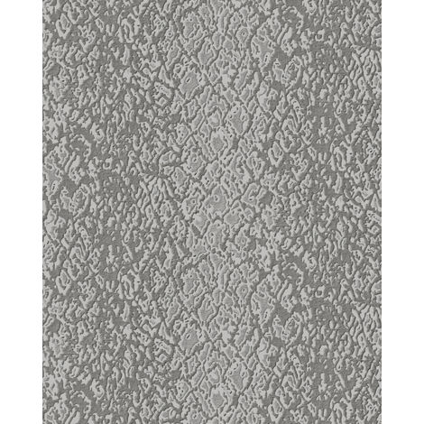 Animal pattern wallpaper wall Profhome DE120124 -DI hot embossed non-woven wallpaper embossed with exotic design shiny grey taupe 5.33 m2 (57 ft2)