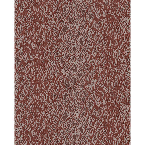 Animal pattern wallpaper wall Profhome DE120126-DI hot embossed non-woven wallpaper embossed with exotic design shiny red beige 5.33 m2 (57 ft2)