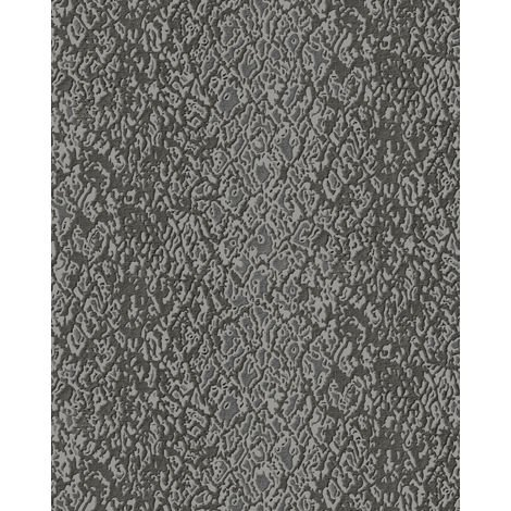 Animal pattern wallpaper wall Profhome DE120129-DI hot embossed non-woven wallpaper embossed with exotic design shiny grey anthracite 5.33 m2 (57 ft2)