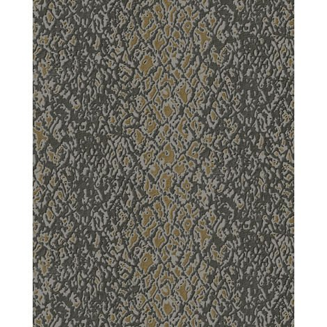 Animal pattern wallpaper wall Profhome DE120130-DI hot embossed non-woven wallpaper embossed with exotic design shiny brown grey gold 5.33 m2 (57 ft2)