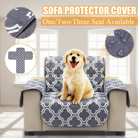 Animal Pet Couverture Housse de Protection Canapé Gris Antidérapante Avec Courroie1-Siège