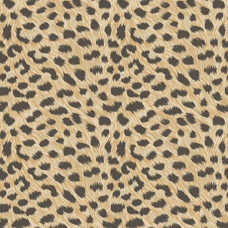 Image of Animal Print Leopard Fur Effect Wallpaper Yellow Gold Metallic - Fine Decor