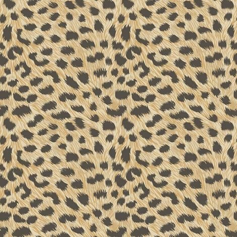 Animal Print Leopard Fur Effect Wallpaper Yellow Gold Metallic Fine Decor