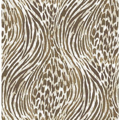 Animal Print Wallpaper A Street Prints Metallic Gold Copper Brown Beige Luxury