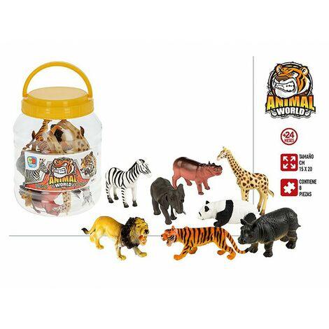 Animales Bote con 8 Accesorios, Figuras de Animales Infantiles. Juguetes para niños 155 x 155 x 205 mm