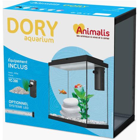 Animalis - Aquarium Dory Équipé Blanc - 10L