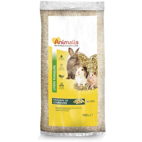 Animalis - Litière Paillage de Chanvre pour Rongeur - 100L