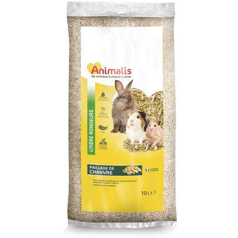 Animalis - Litière Paillage de Chanvre pour Rongeur - 10L