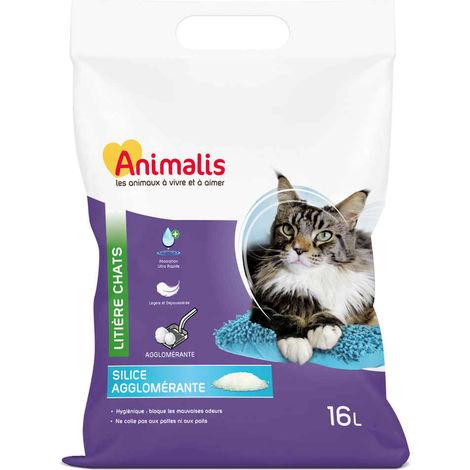 Animalis - Litière Silice Agglomérante pour Chat - 16L
