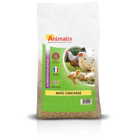 Animalis - Maïs Concassé pour Basse Cour - 20Kg