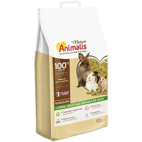 Animalis Nature - Litière Végétale Granulés Bois pour Rongeurs - 10L
