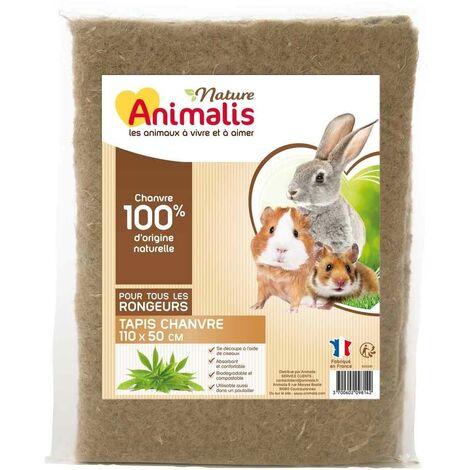 Animalis Nature - Tapis de Chanvre et Coton pour Rongeurs - L