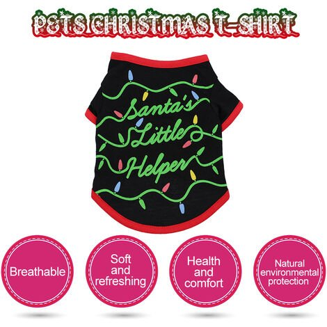 Animals Christmas T-Shir Dog Christmas Clothes M TPJA092