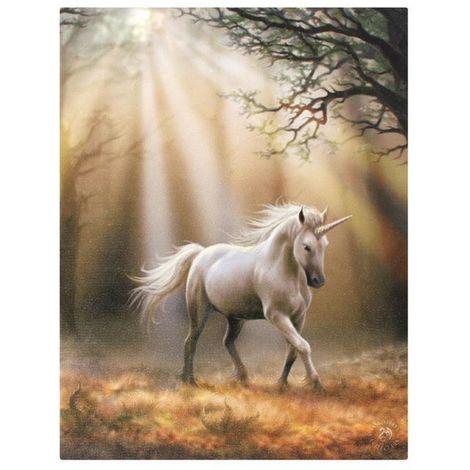 """main image of """"Anne Stokes Glimpse Unicorn Canvas (Small) (Multicoloured)"""""""