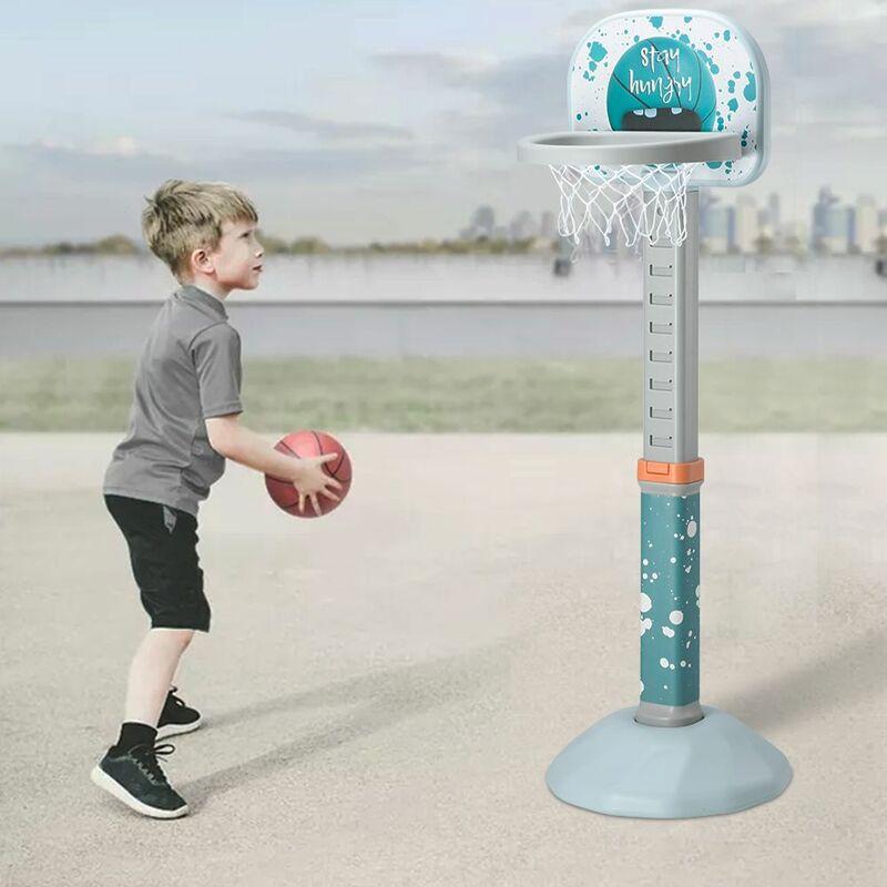 Anneau de basket - ball réglable en hauteur à l'intérieur et à l'extérieur avec boule / pompe
