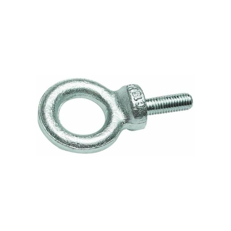 Vis Express - ANNEAU DE LEVAGE MALE M20 ACIER ZING BLANC   Conditionnement: 50 pieces