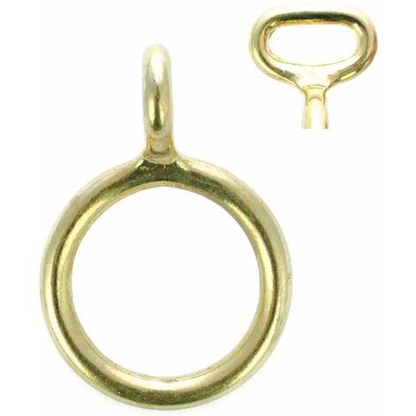 Anneau en or avec crochet d'arrimage fixe
