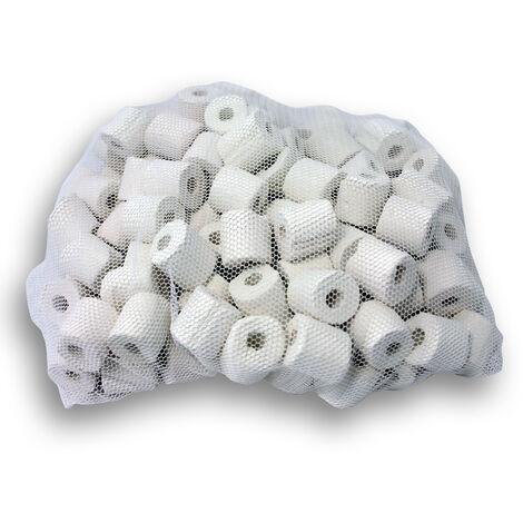 Anneaux- Nouilles en céramique Colonisation de bactéries nitrifiantes dans le filtre 0,5 kg