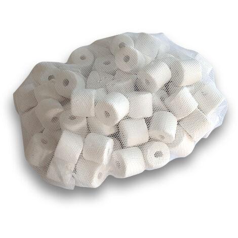 Anneaux- Nouilles en céramique poreuses Colonisation de bactéries nitrifiantes dans le filtre 0,4 kg