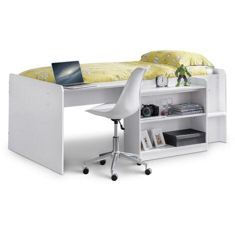 Annette 3ft Single 90 x 190 White Mid Sleeper Bed Frame