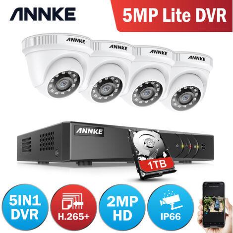 ANNKE 1080N 8CH CCTV DVR 4Pcs 720p 1.0MP Home Security System Camera
