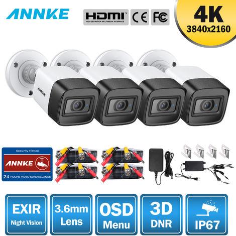 ANNKE 3MP HD TVI bullet Salida de cámara de seguridad Turbo HD, resolución de hasta 3MP