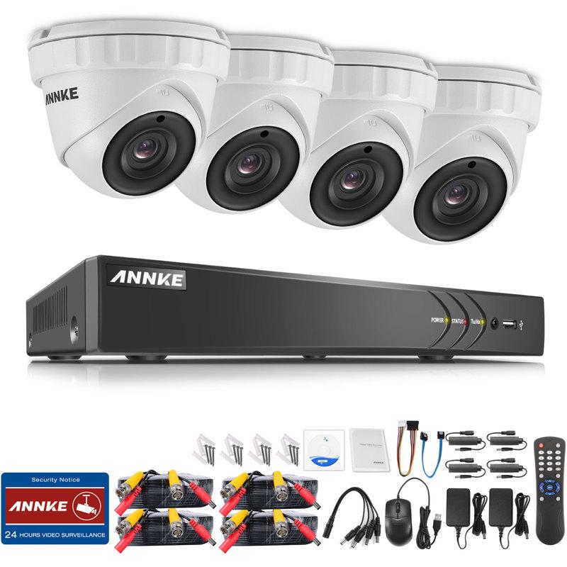 ANNKE /Überwachungskamera Set 8CH 1080P Video/überwachung AHD DVR Recorder mit 8X 1080P Sicherheitskamera /Überwachungssystem f/ür innen und au/ßen Bereich mit 1TB Festplatte Nachtsicht bis zu 30 Meter