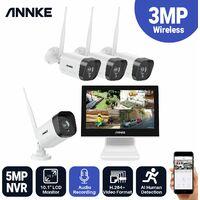 ANNKE 4CH 1080P FHD Système de surveillance vidéo Wifi NVR