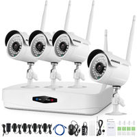 ANNKE 4CH 1080P HD Wireless NVR Security Camera System NO HDD and with 4 x 2.0MP IP CCTV Surveillance Cameras, Email Notification, Quick Remote Access,Motion Detection