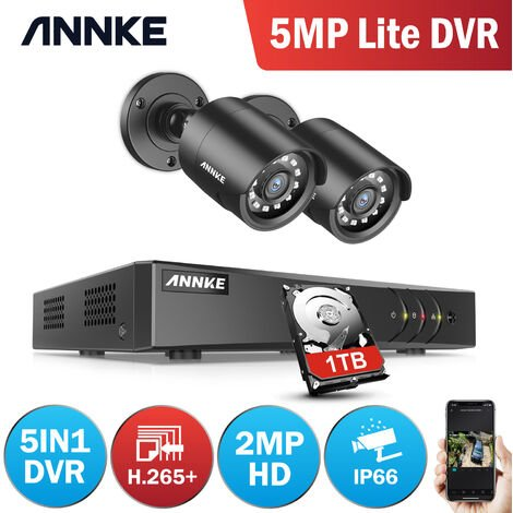 ANNKE 4CH 720P DVR Home Security Syetem 4Pcs 1.0MP 720P Security Weatherproof Bullet Cameras