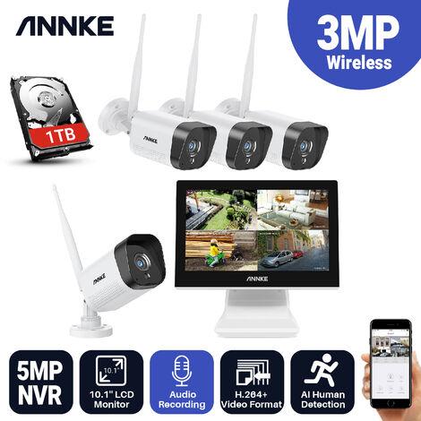 """main image of """"ANNKE H800 16CH 8MP 4K Ultra HD PoE ONVIF NVR Sistema de cámara de seguridad domo con codificación H.265 + 4K con cable HD para exteriores interiores IP67 Cámaras resistentes a la intemperie IK10 Grabación de audio a prueba de vandalismo con 12 cámaras"""""""