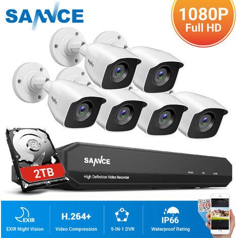 """main image of """"ANNKE 4K Ultra HD DVR Sistema de cámara de seguridad con cable con cámaras de visión nocturna Super HD de 8MP para el hogar Kits de videovigilancia CCTV de interior al aire libre 8 cámaras"""""""